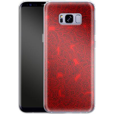 Samsung Galaxy S8 Plus Silikon Handyhuelle - Red Black von Mattartiste