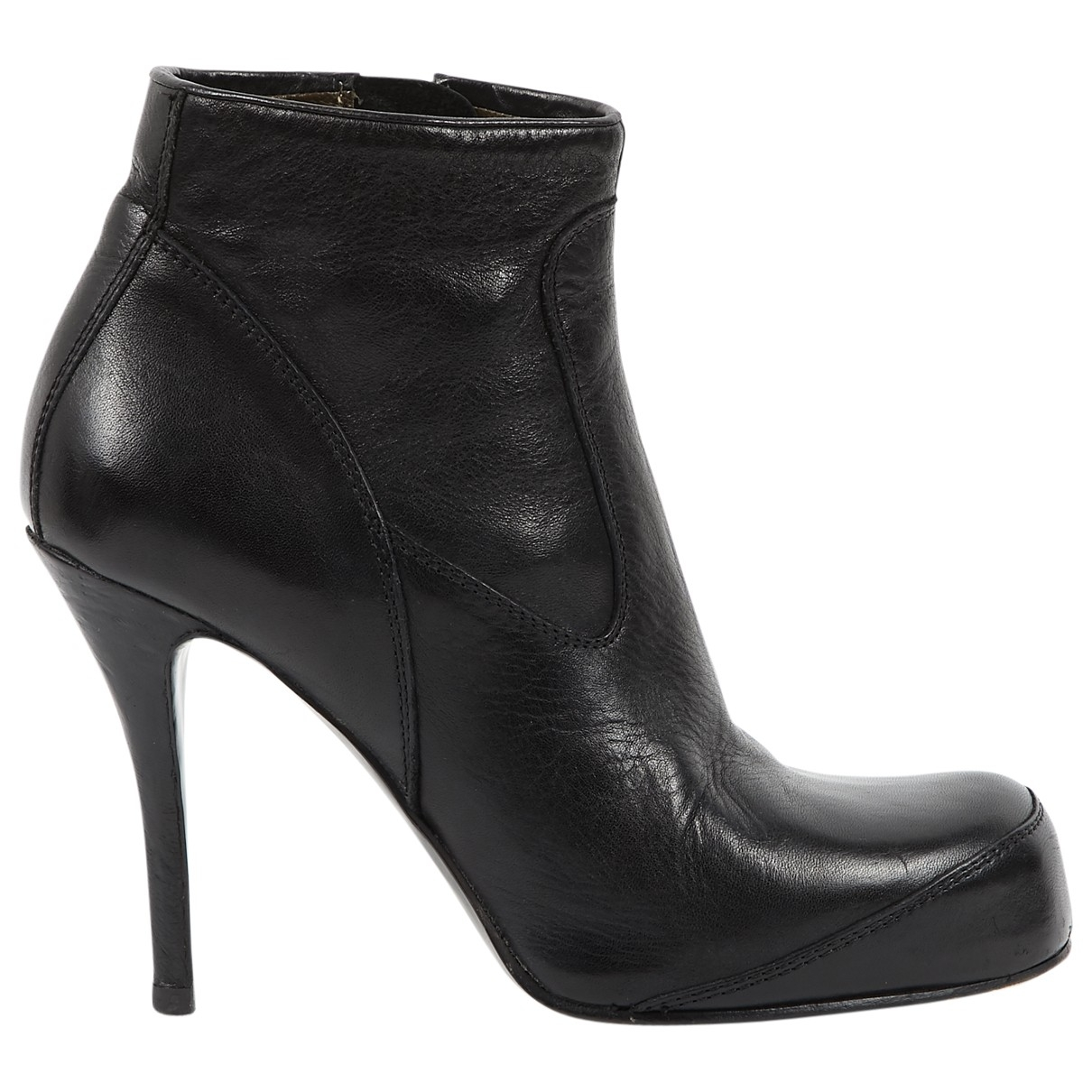 Rick Owens \N Black Leather Ankle boots for Women 38 EU