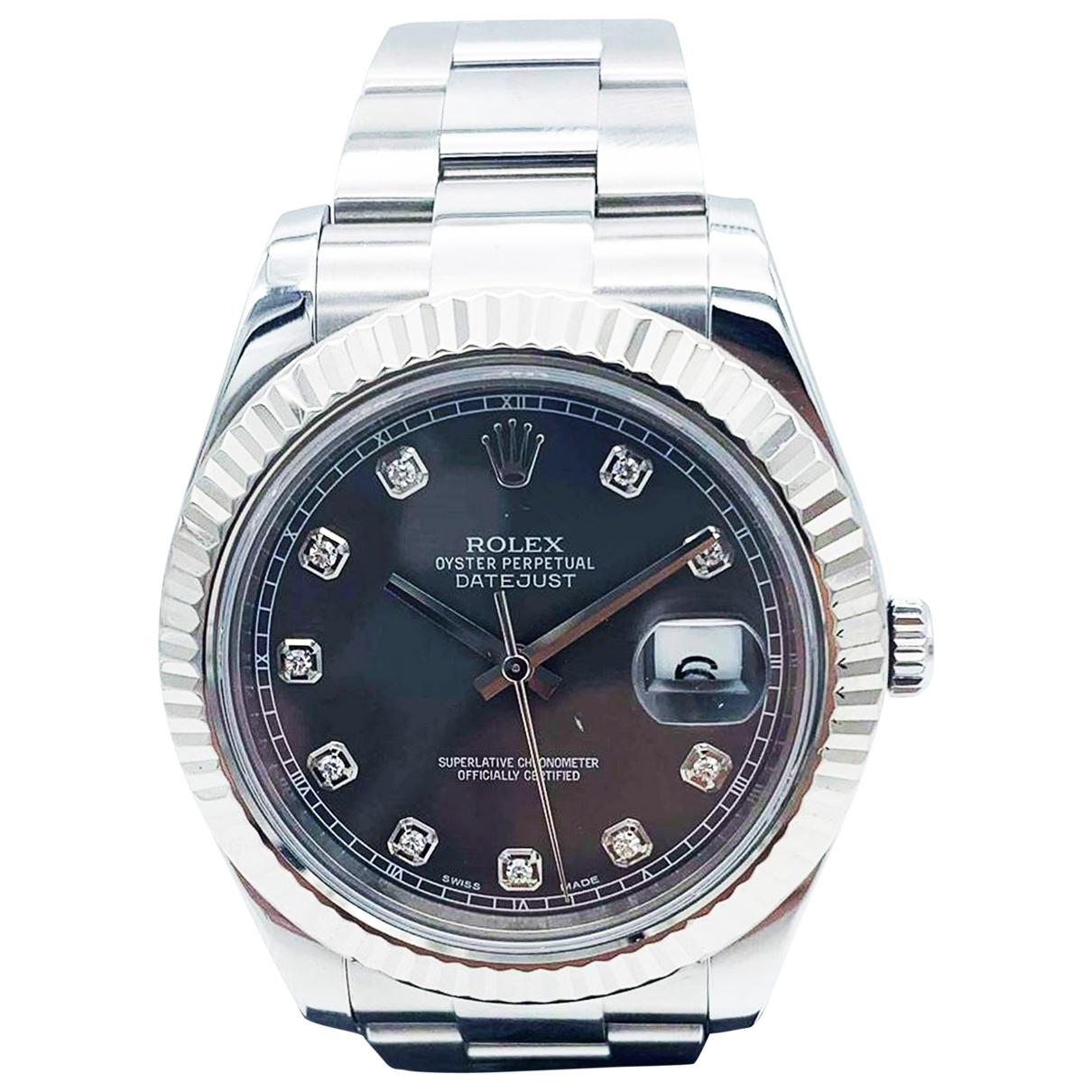 Rolex - Montre DateJust II 41mm pour homme en or et acier - gris