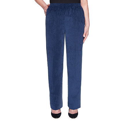 Alfred Dunner Classics Womens Straight Corduroy Pant, 12 Petite Short , Blue