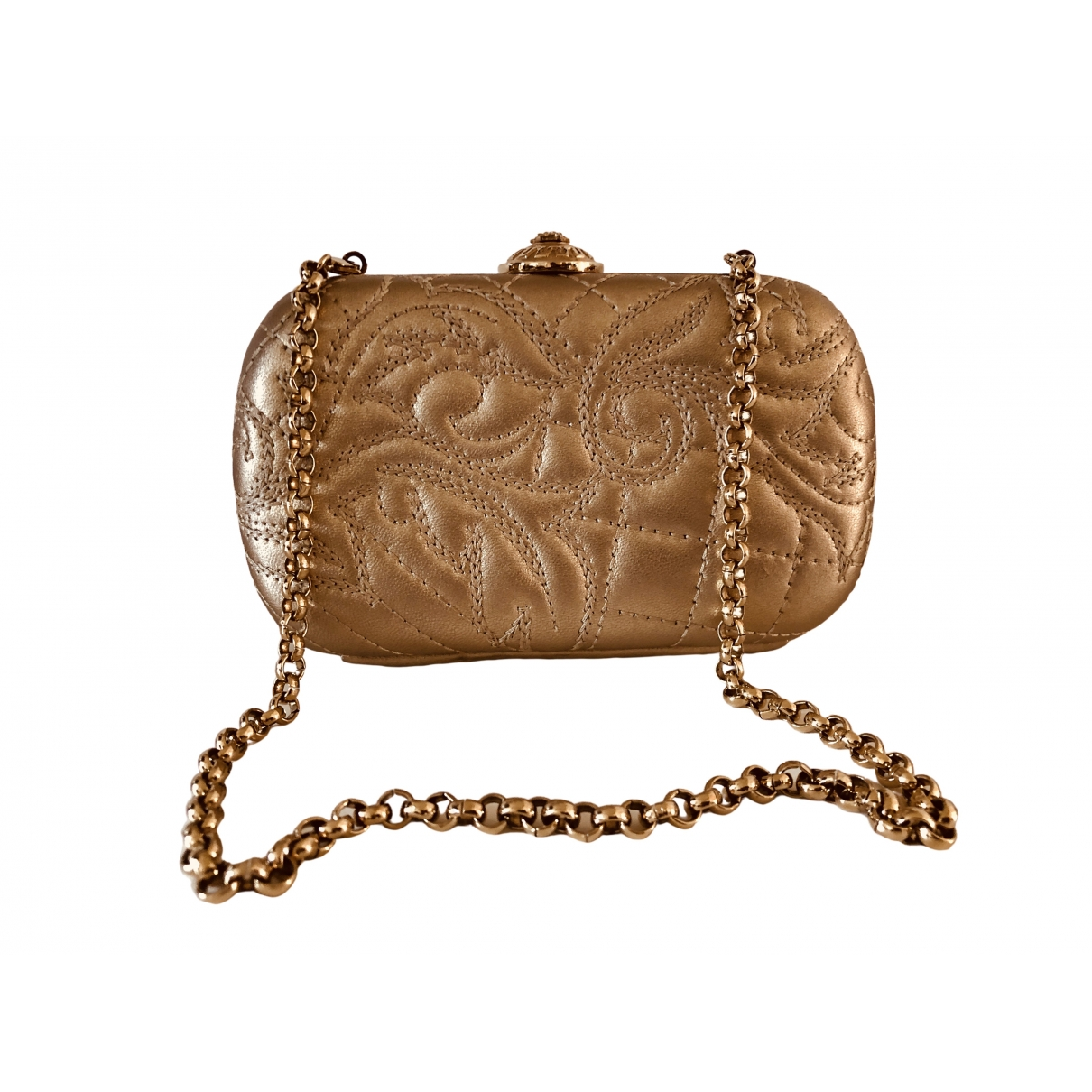 Gianni Versace \N Clutch in  Gold Leder