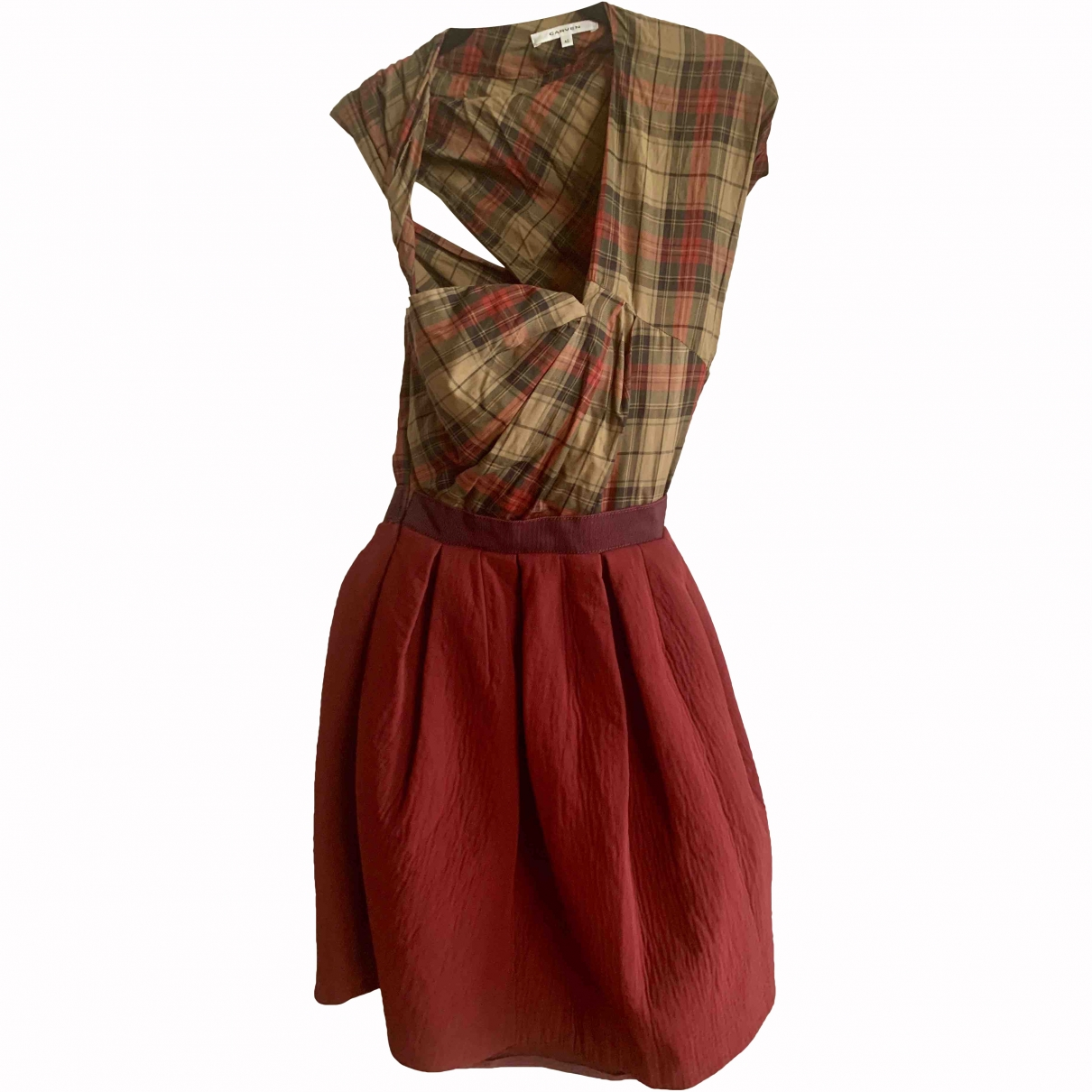 Carven \N Burgundy Wool dress for Women 40 FR