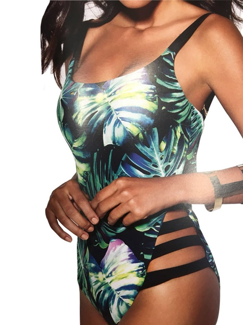Ericdress Plant Print Beach Look Swimwear