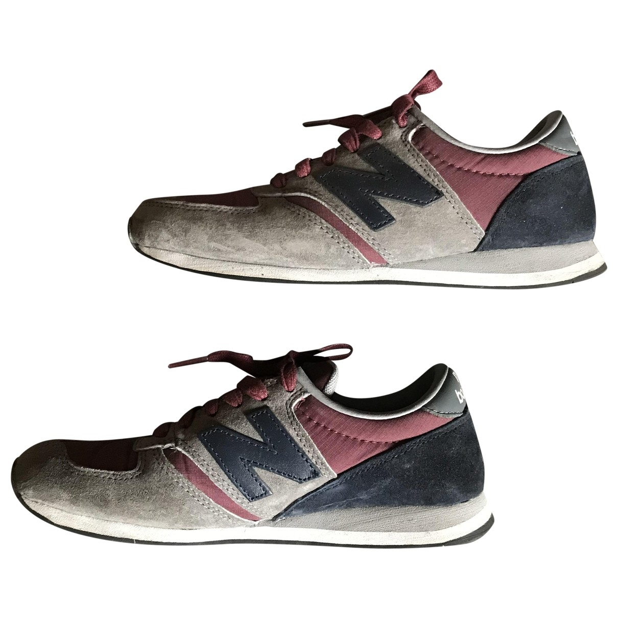 New Balance \N Burgundy Leather Trainers for Women 36 EU