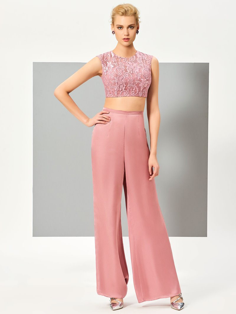 Ericdress Lace Top Two Pieces Evening Pansuits