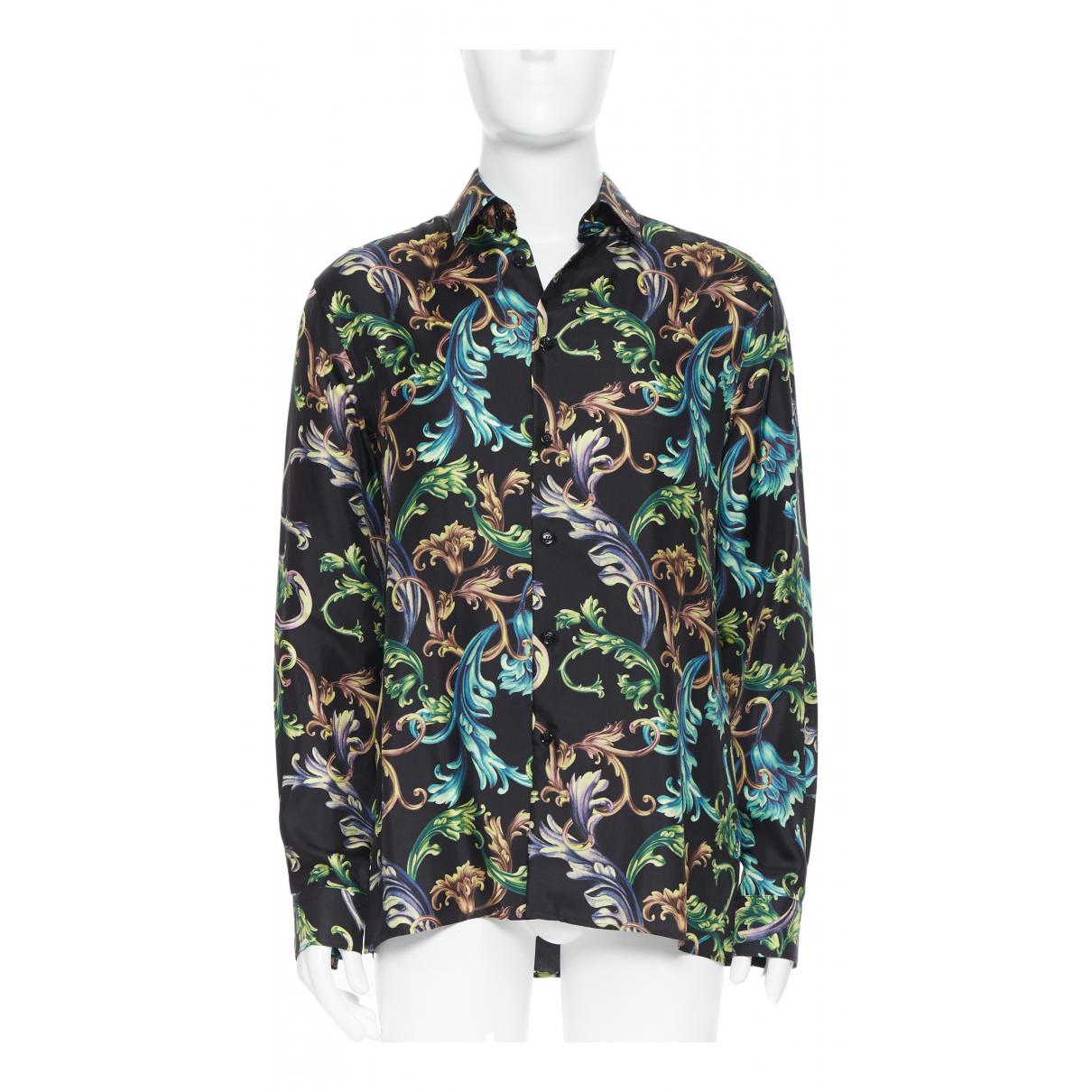 Versace - Chemises   pour homme en soie - noir
