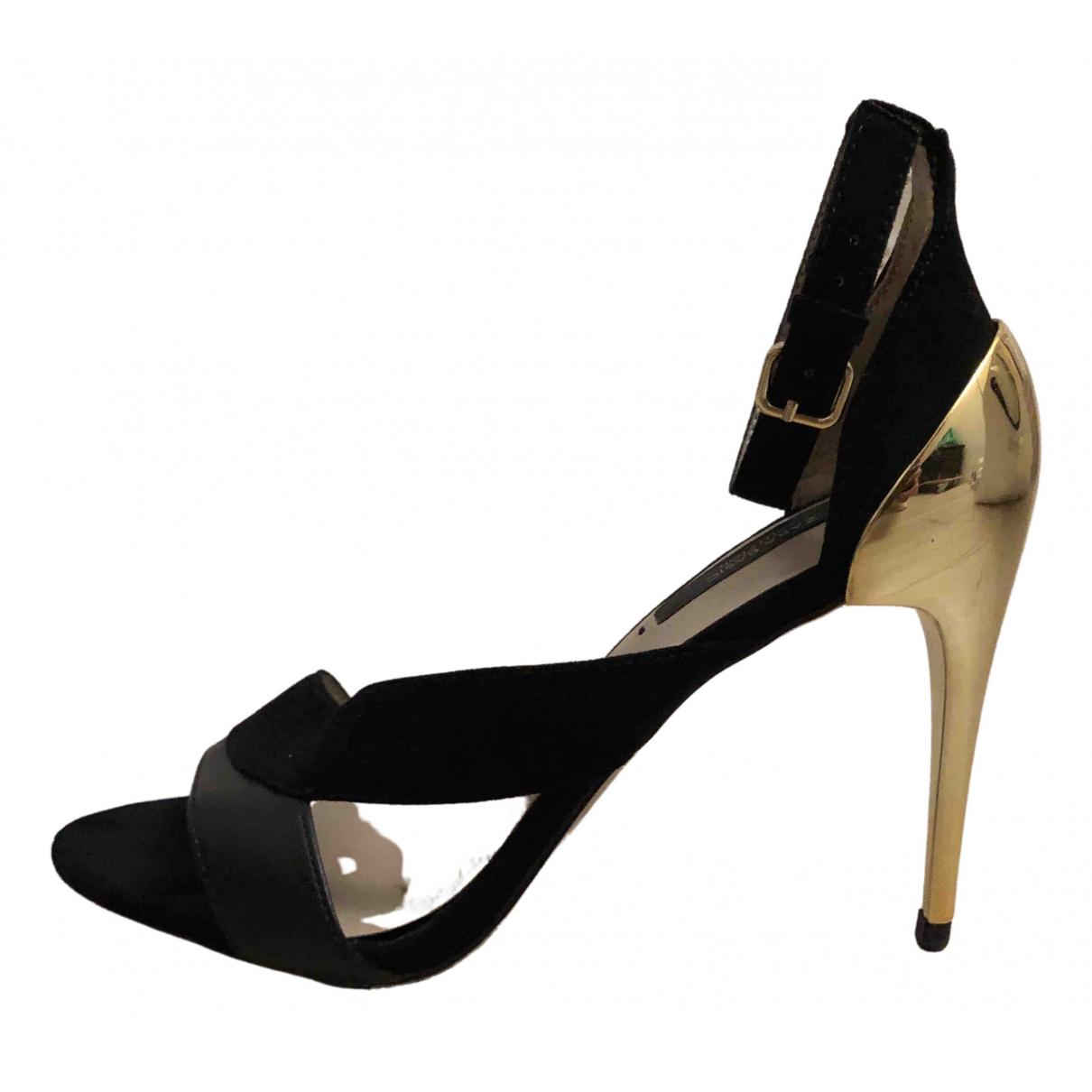 Zara \N Sandalen in  Schwarz Leder