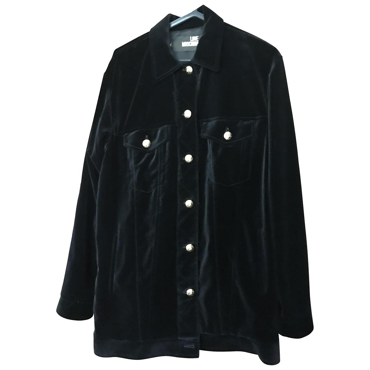 Moschino Love - Veste   pour femme en coton - noir