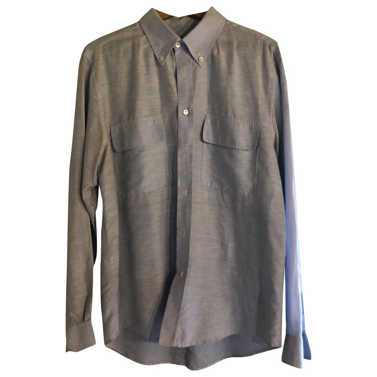 - Chemises   pour homme en lin - turquoise
