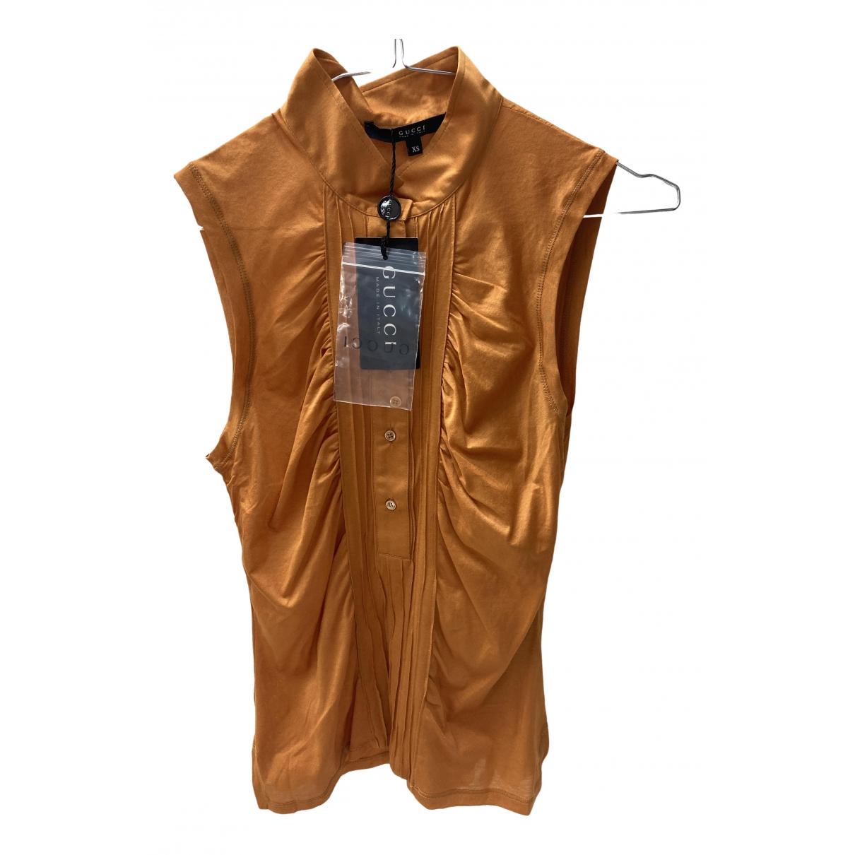 Gucci \N Orange Cotton  top for Women XS International