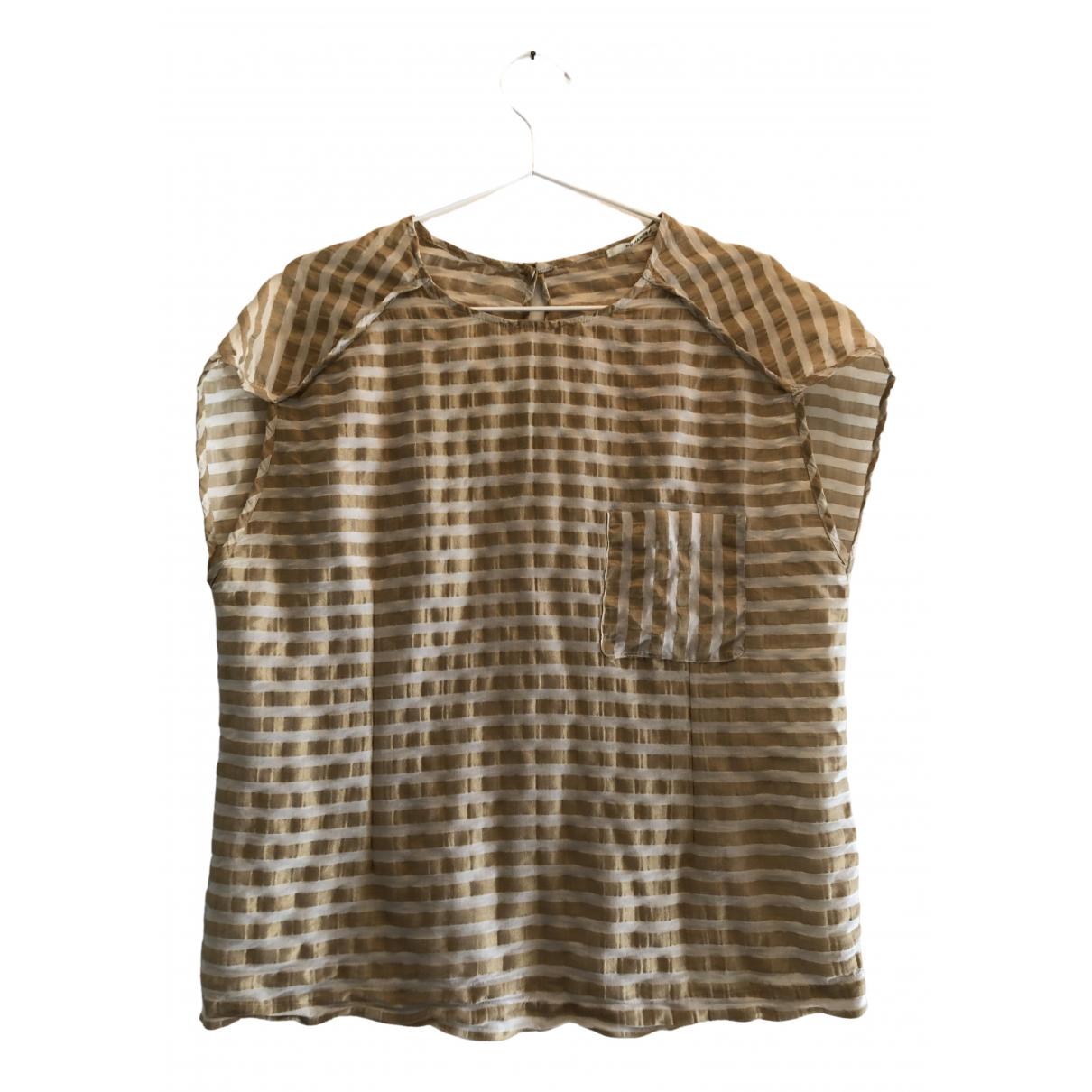 Pomandere - Top   pour femme en coton - dore