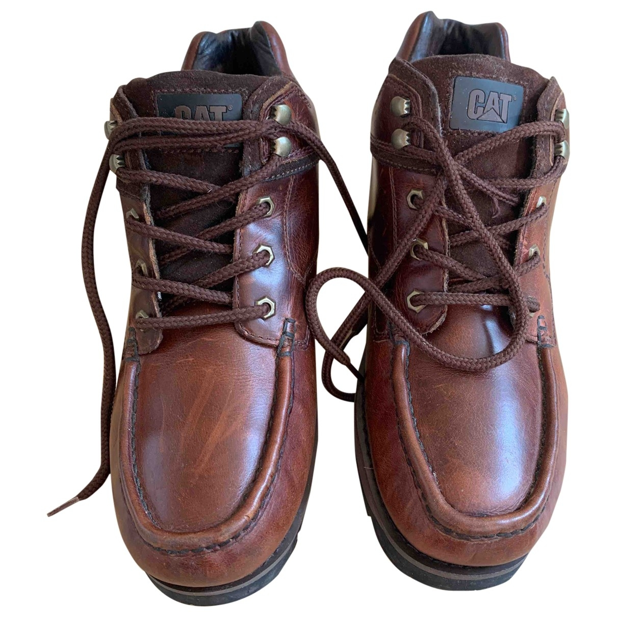 Non Signé / Unsigned \N Brown Leather Boots for Men 44 EU