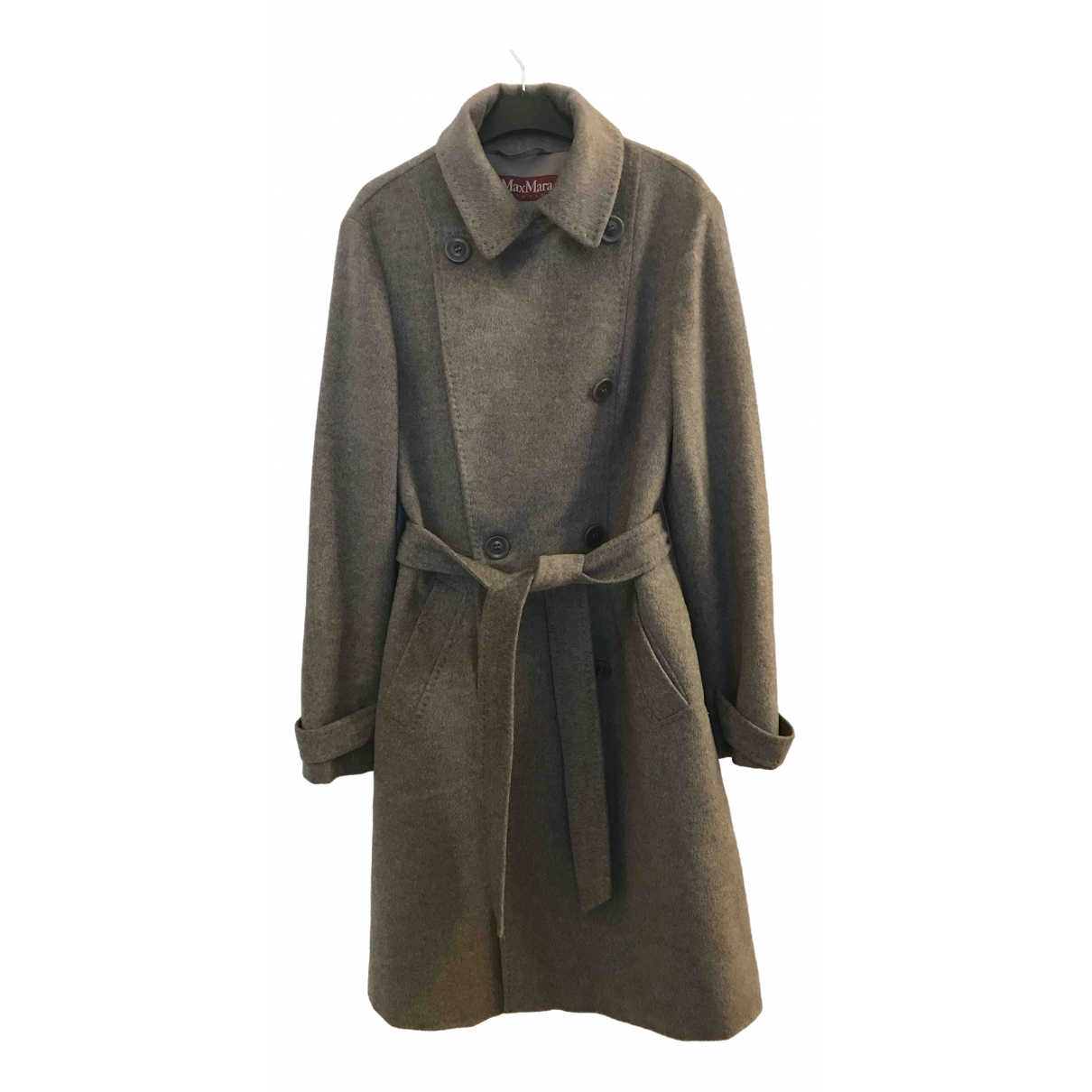 Max Mara Studio \N Grey Wool coat for Women 42 IT