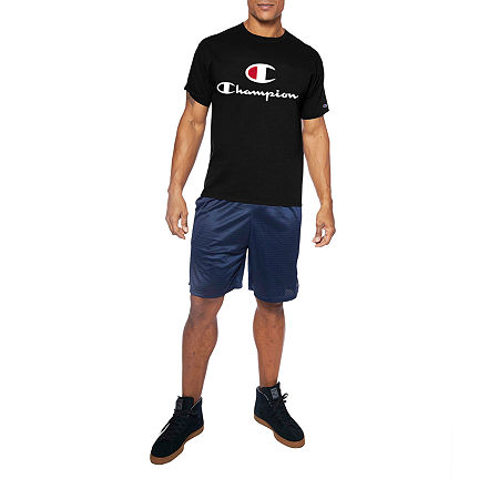 Champion-Big and Tall Mens Crew Neck Short Sleeve T-Shirt, 2x-large , Black