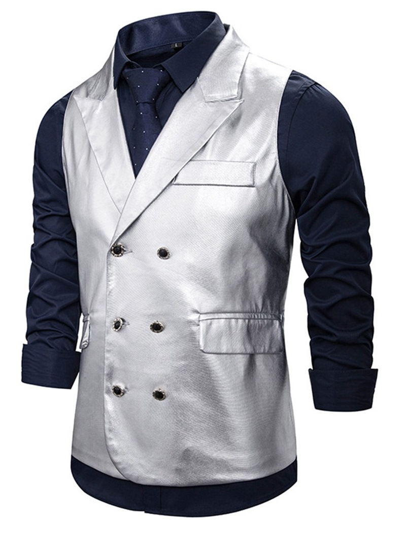 Ericdress Notched Lapel Plain Casual Waistcoat