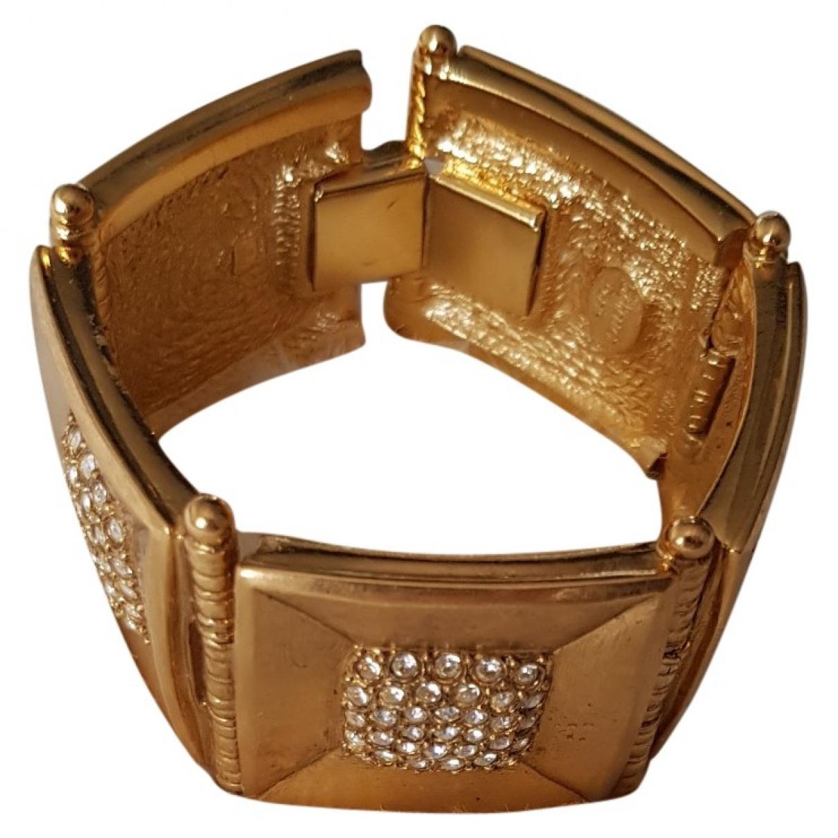 Jean-louis Scherrer - Bracelet   pour femme en metal - dore