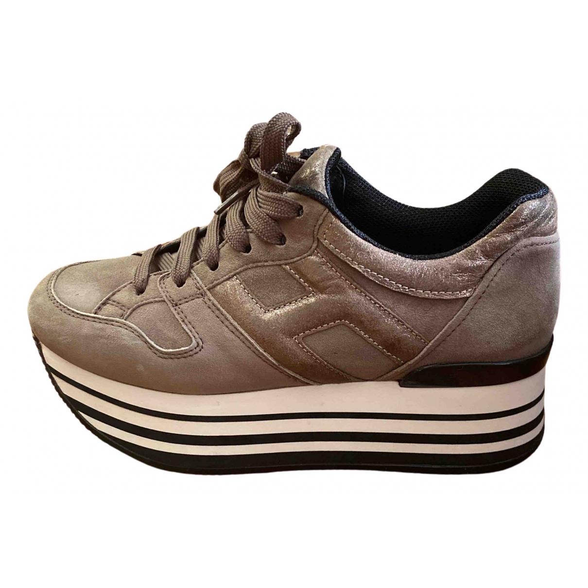 Hogan \N Sneakers in  Khaki Leder