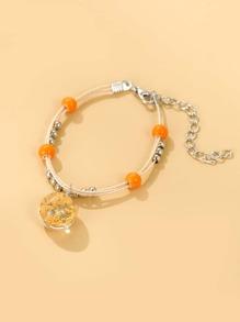 Girls Dried Flower Decor Bracelet
