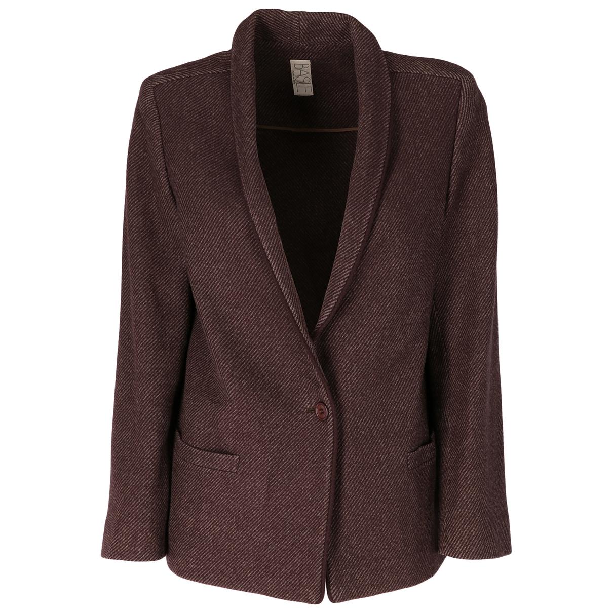 Basile \N Brown Wool jacket for Women 42 IT