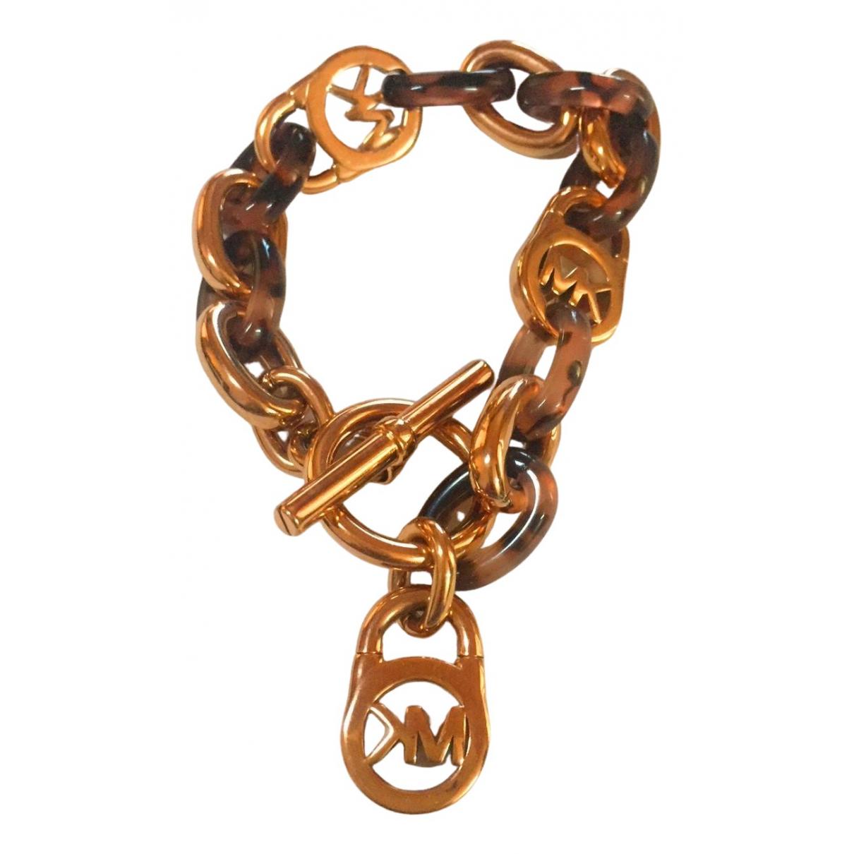 Michael Kors - Bracelet   pour femme en metal - dore