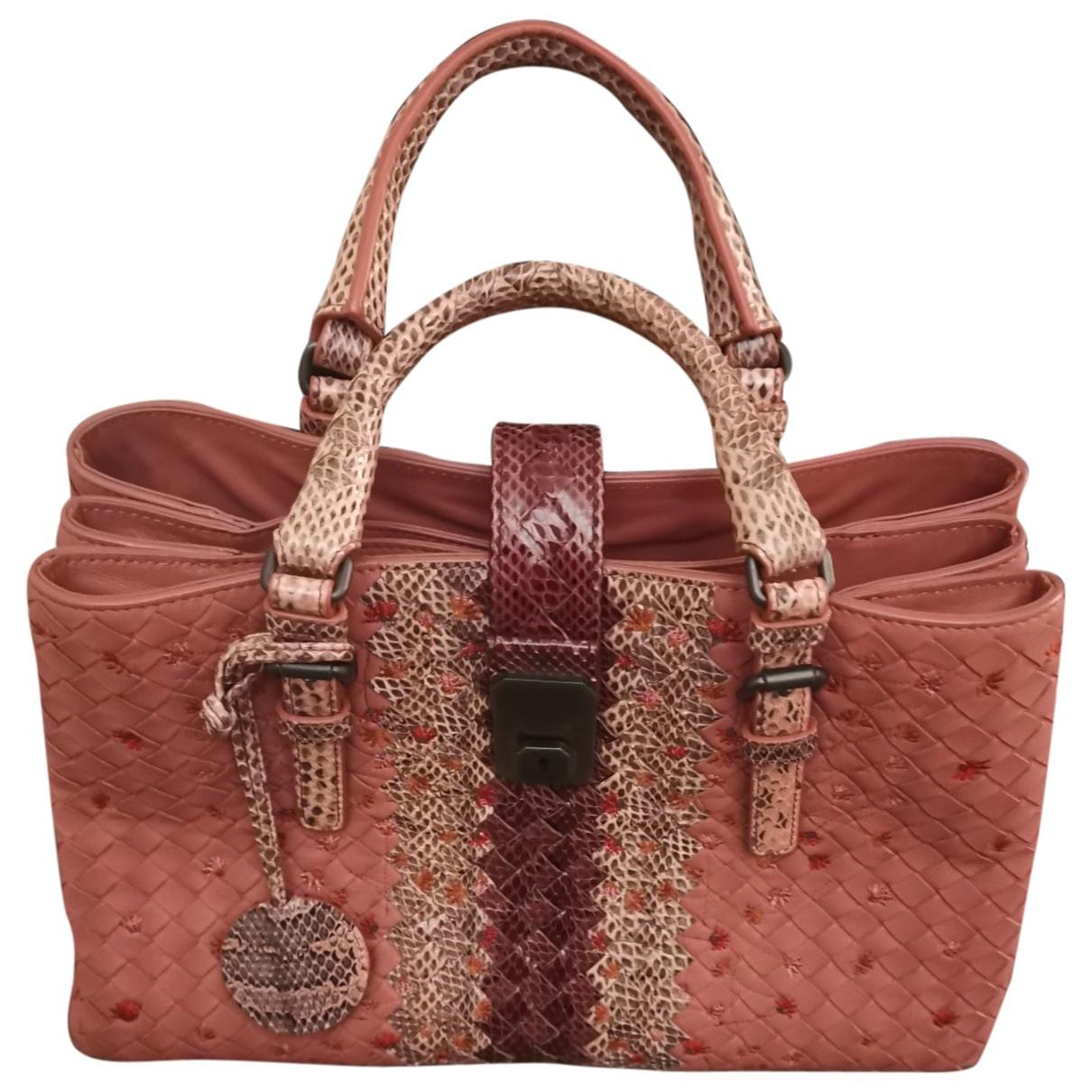 Bottega Veneta - Sac a main Roma pour femme en cuir - rose