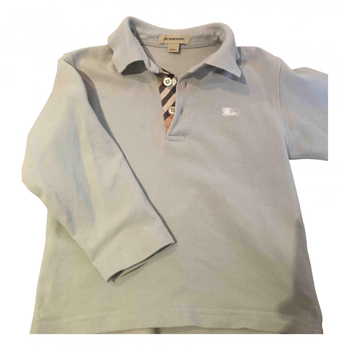 Burberry - Top   pour enfant en coton - gris