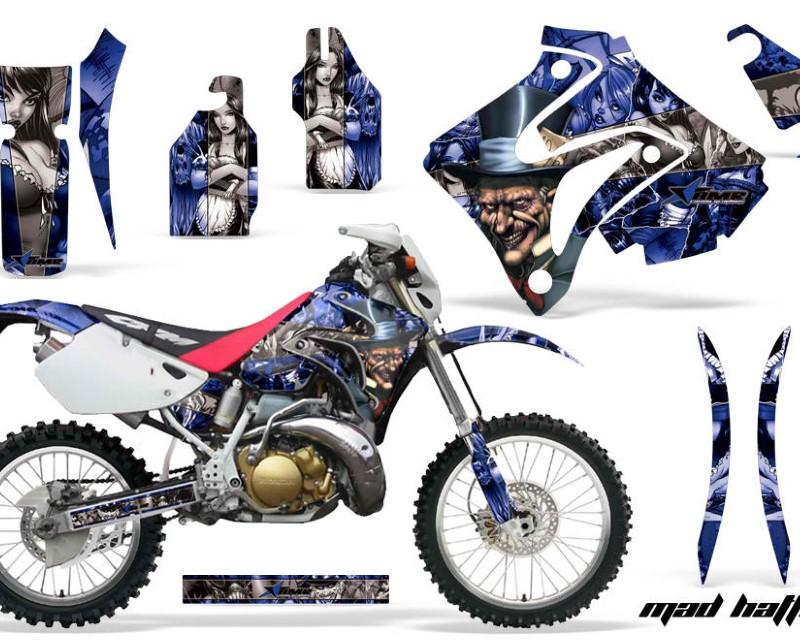 AMR Racing Dirt Bike Graphics Kit Decal Sticker Wrap For Honda CRM250AR 1996-1999áHATTER BLUE SILVER