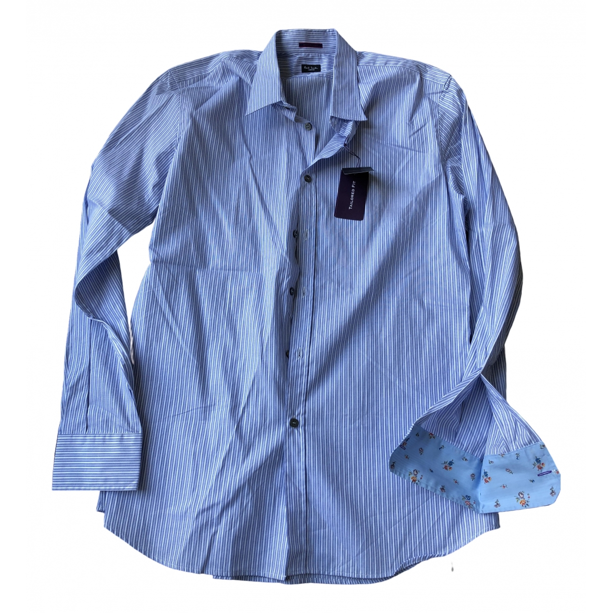Paul Smith \N Blue Cotton Shirts for Men 43 EU (tour de cou / collar)
