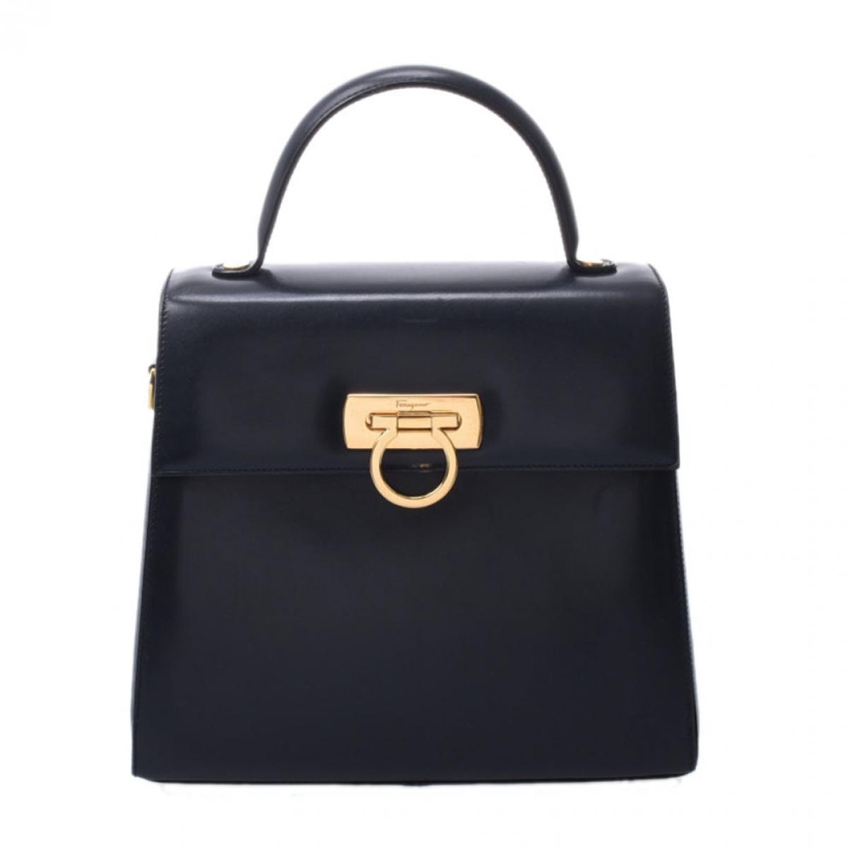 Salvatore Ferragamo \N Handtasche in  Marine Leder