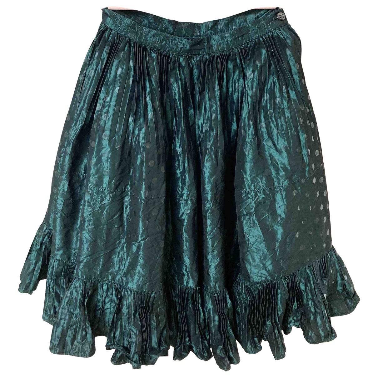 Balenciaga - Jupe   pour femme en soie - vert