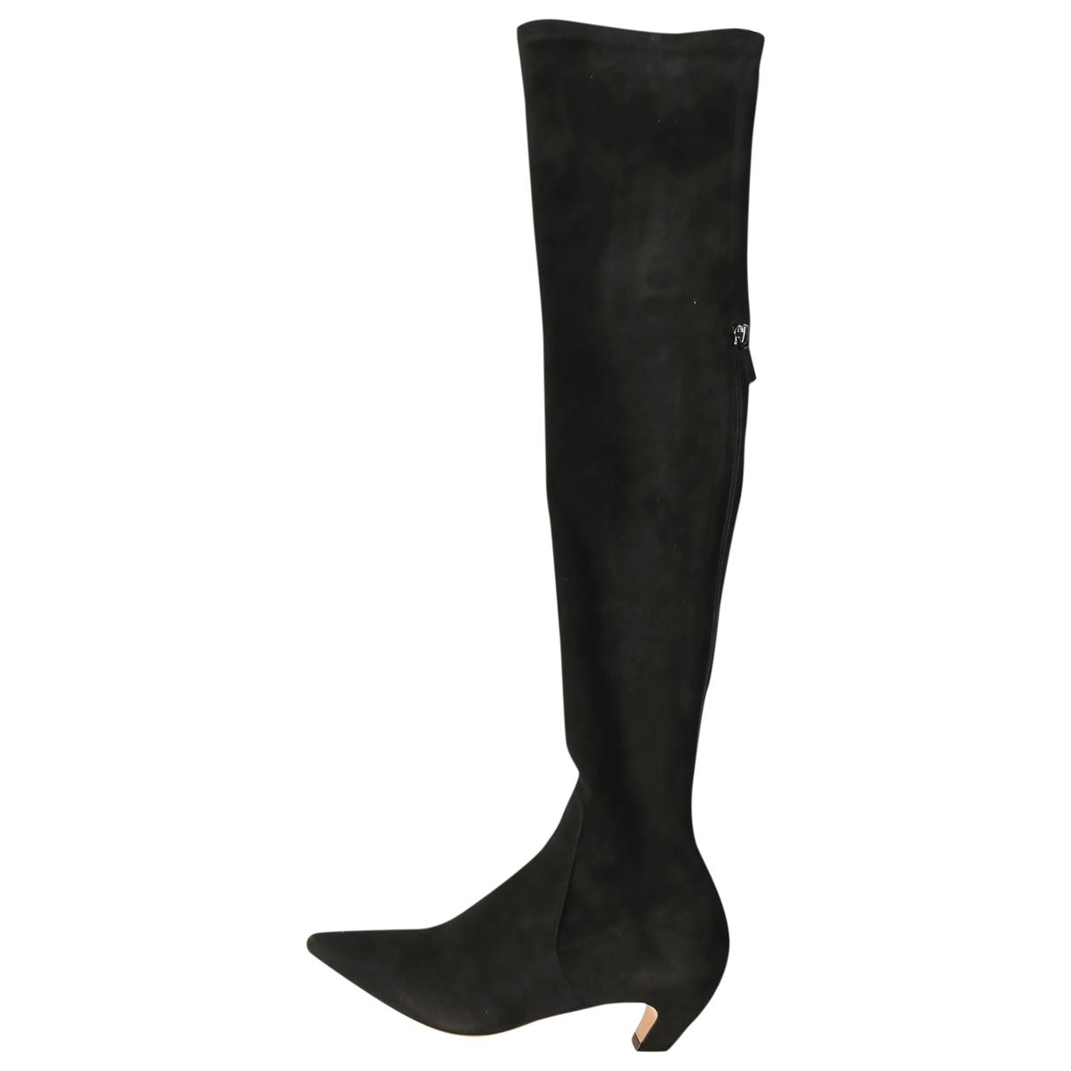 Dior - Bottes   pour femme en suede - noir