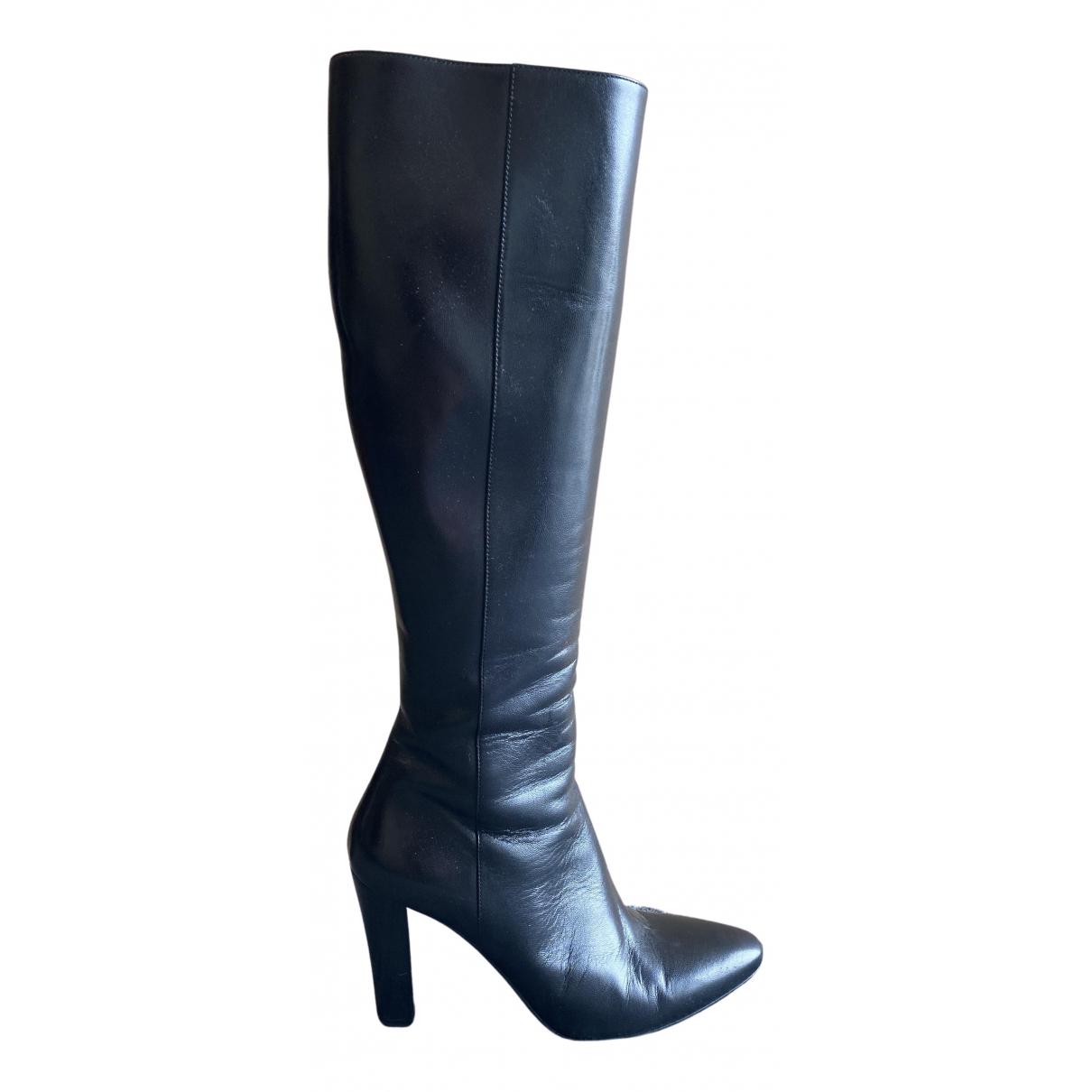 Saint Laurent N Black Leather Boots for Women 37 EU