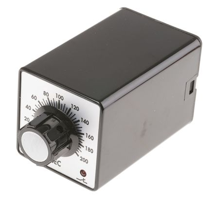 Tempatron DP-NO/NC Timer Relay - 5 → 200 s, 2 Contacts, ON Delay Energise, Plug In