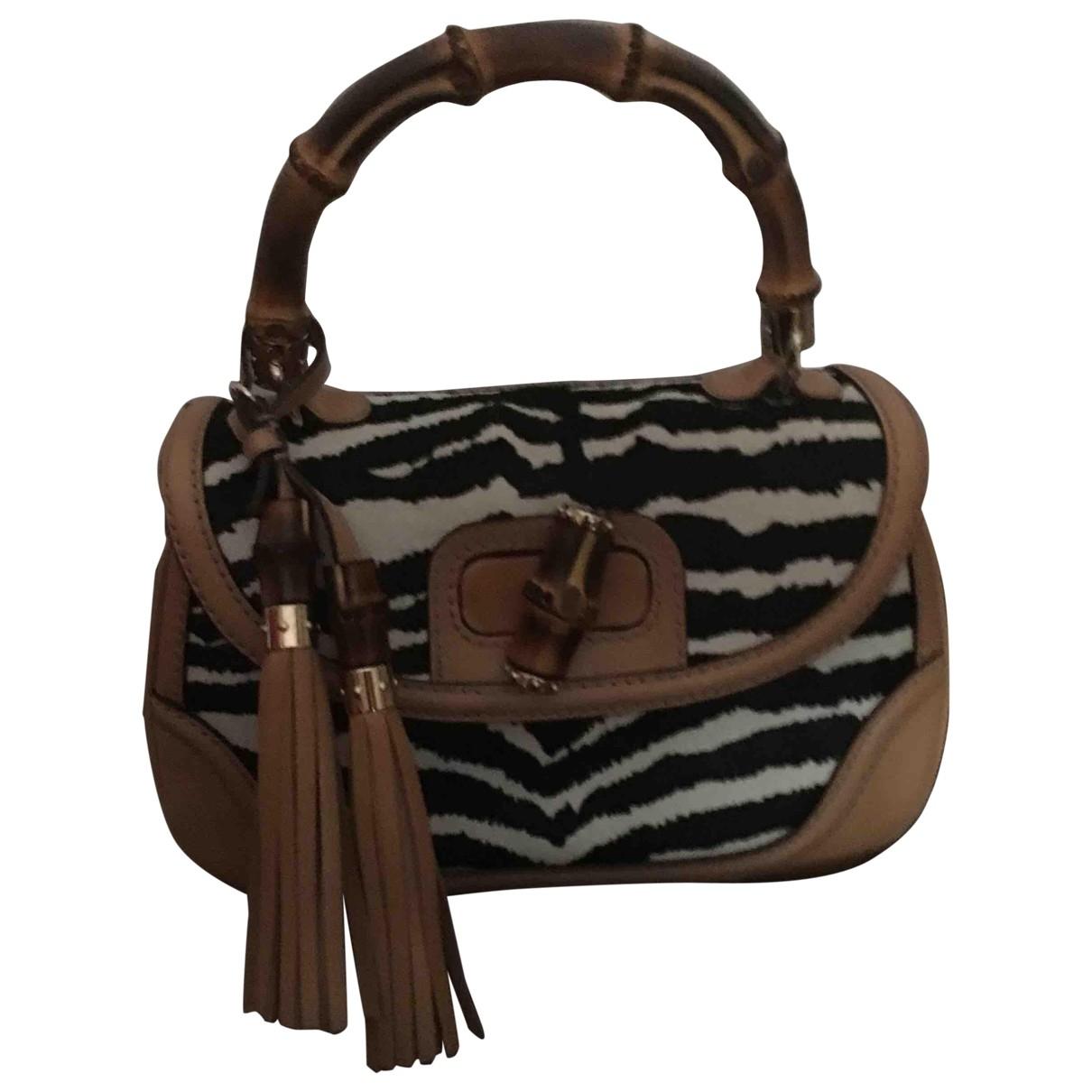 Gucci Bamboo Multicolour Pony-style calfskin handbag for Women \N