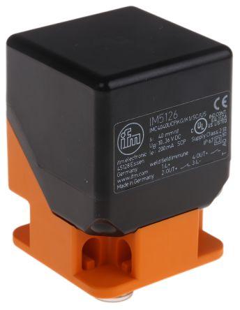 ifm electronic Inductive Sensor - Block, PNP-NO/NC Output, 40 mm Detection, IP67, M12 - 4 Pin Terminal