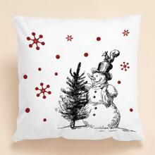 Weihnachten Kissenbezug mit Schneemann Muster ohne Fuelle