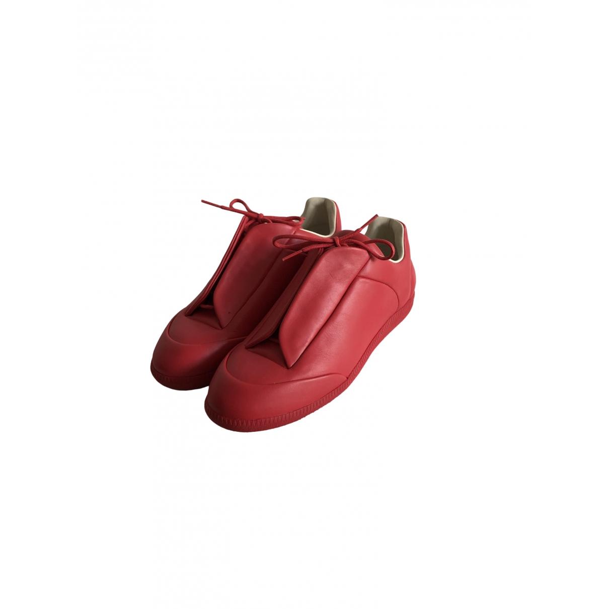 Maison Martin Margiela - Baskets Future pour homme en cuir - rouge