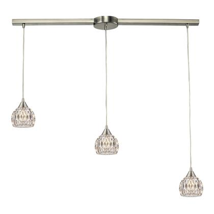 10342/3L Kersey Collection 3 Light chandelier in Satin