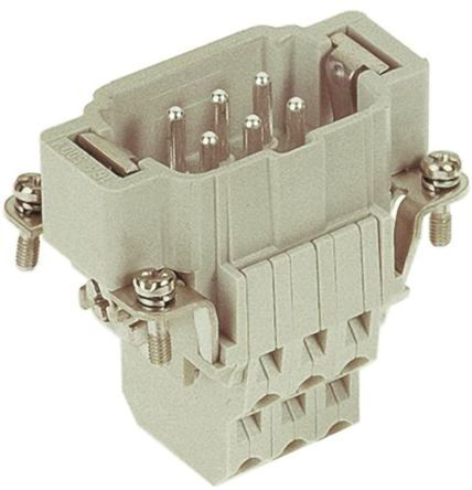 HARTING Han ESS 933 Series size 6 B Connector Insert, Male, 6 Way, 16A, 500 V