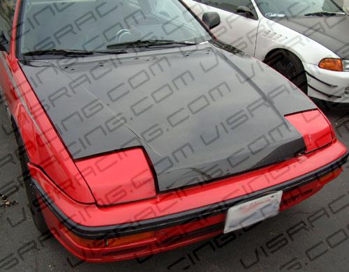 VIS Racing 88HDPRE2DOE-010C Carbon Fiber OEM Hood Honda Prelude 88-91