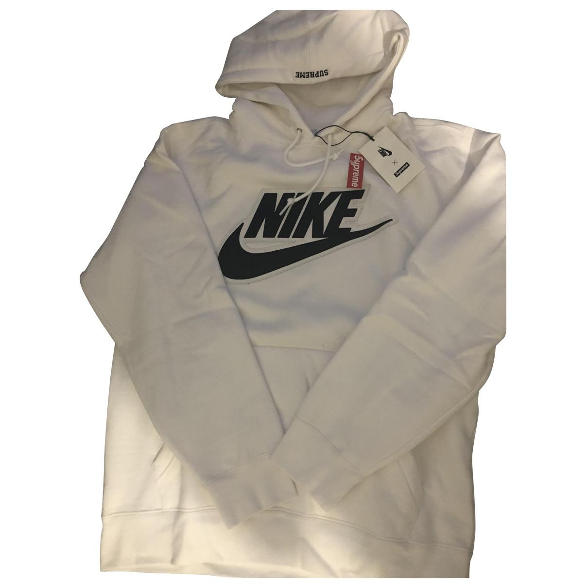 Nike X Supreme \N Pullover.Westen.Sweatshirts  in  Weiss Baumwolle