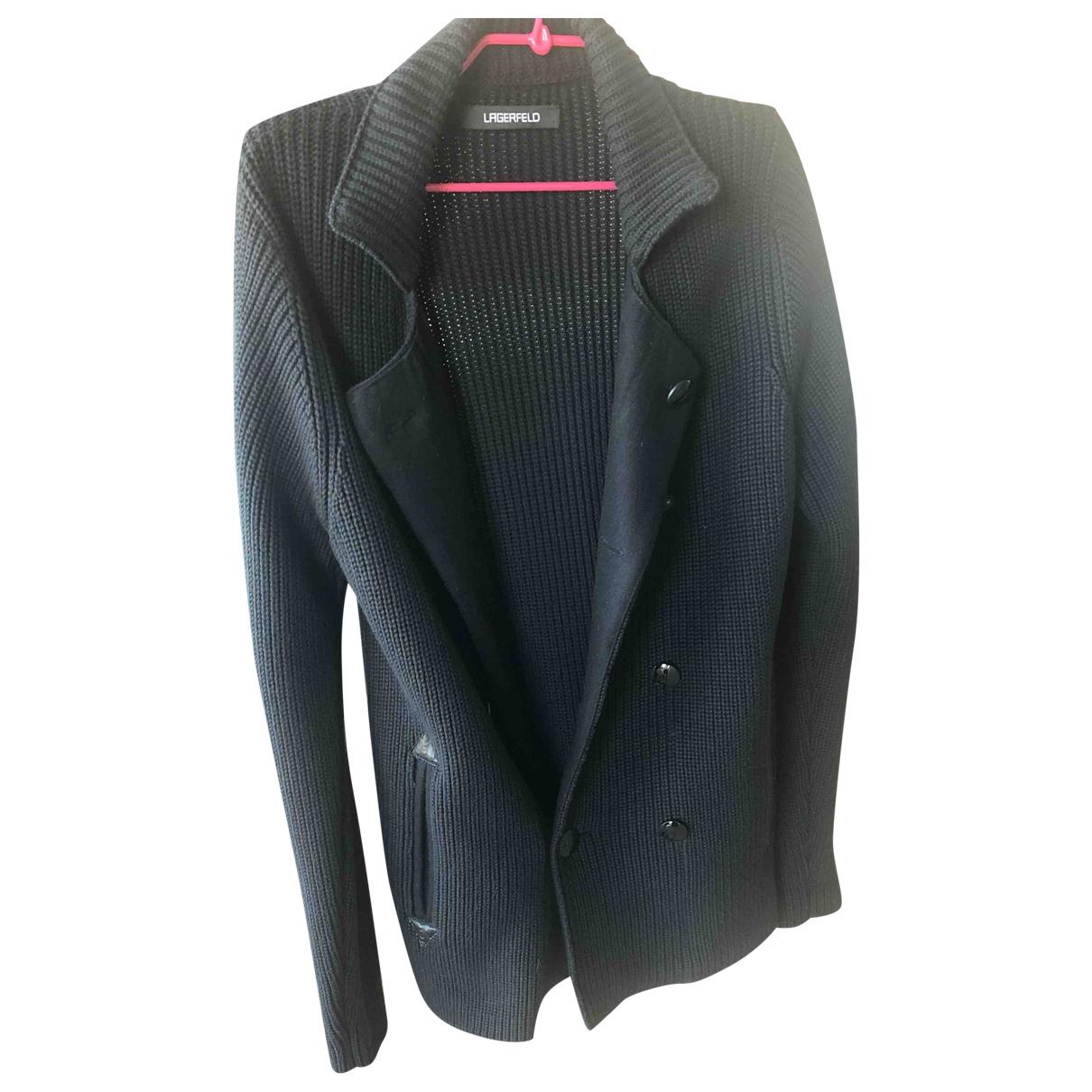 Karl Lagerfeld \N Pullover.Westen.Sweatshirts  in  Schwarz Wolle