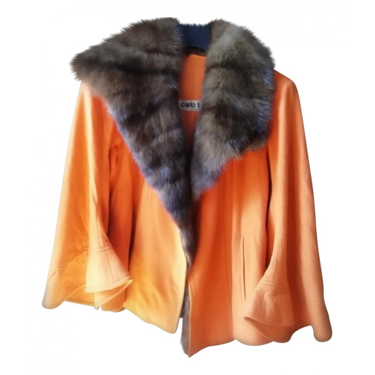 Carlo Tivioli \N Orange Mink jacket for Women 42 FR