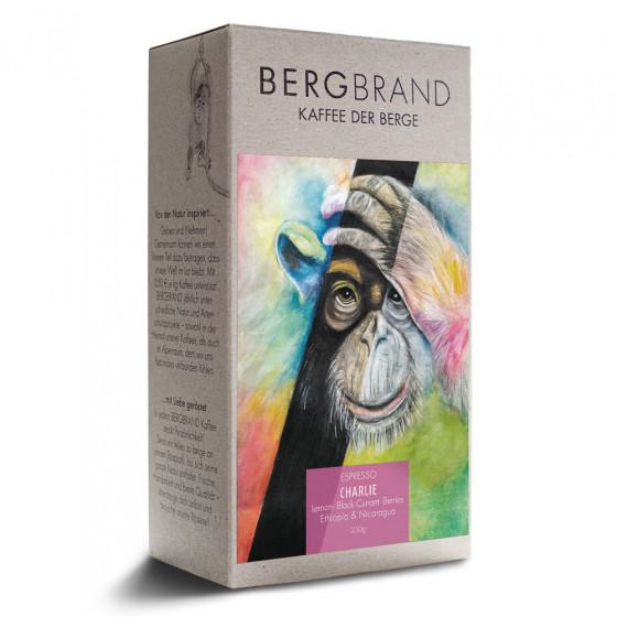 """Kaffeebohnen Bergbrand Kaffeerosterei """"Charlie Espresso"""", 250 g"""