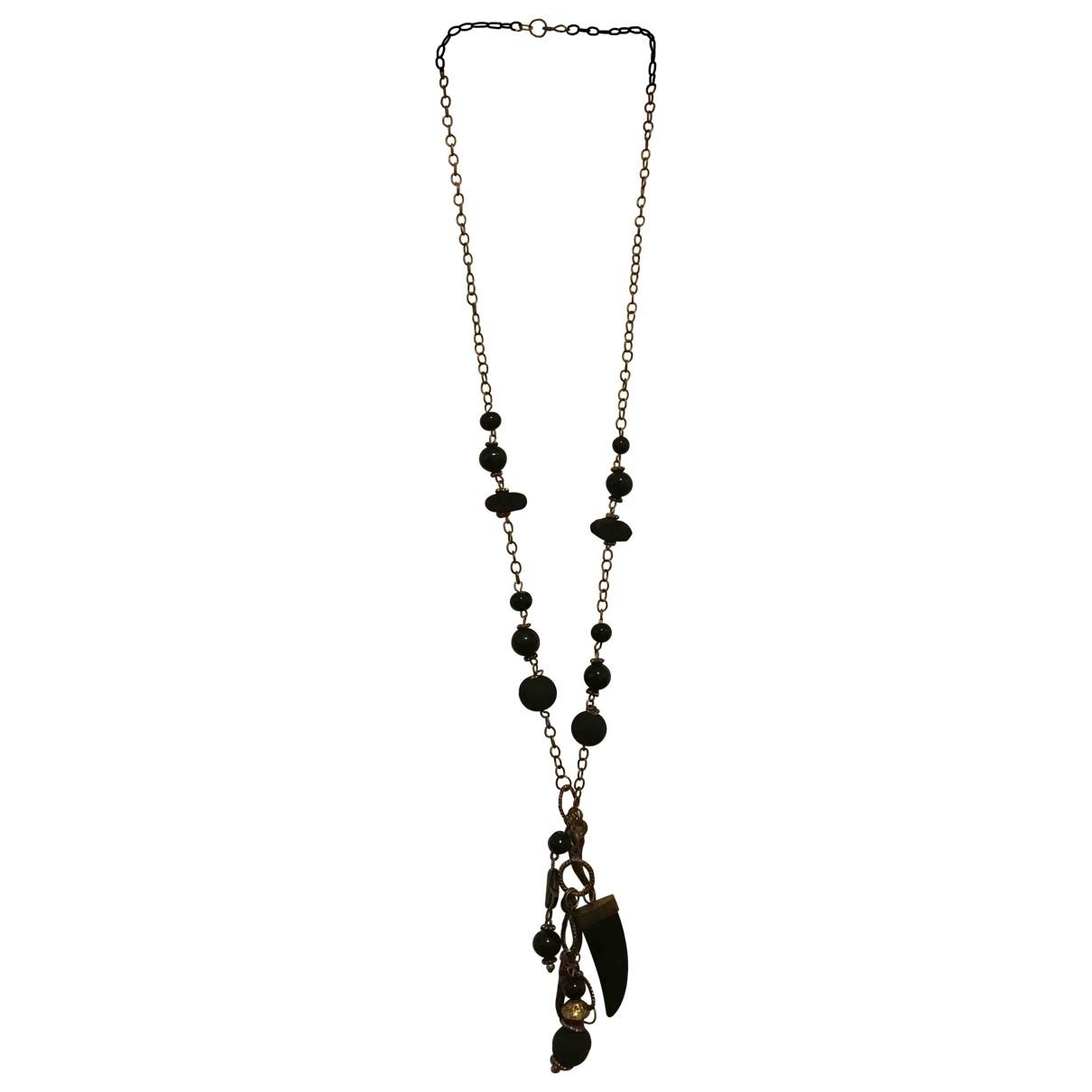 - Collier Motifs Ethniques pour femme en metal - noir