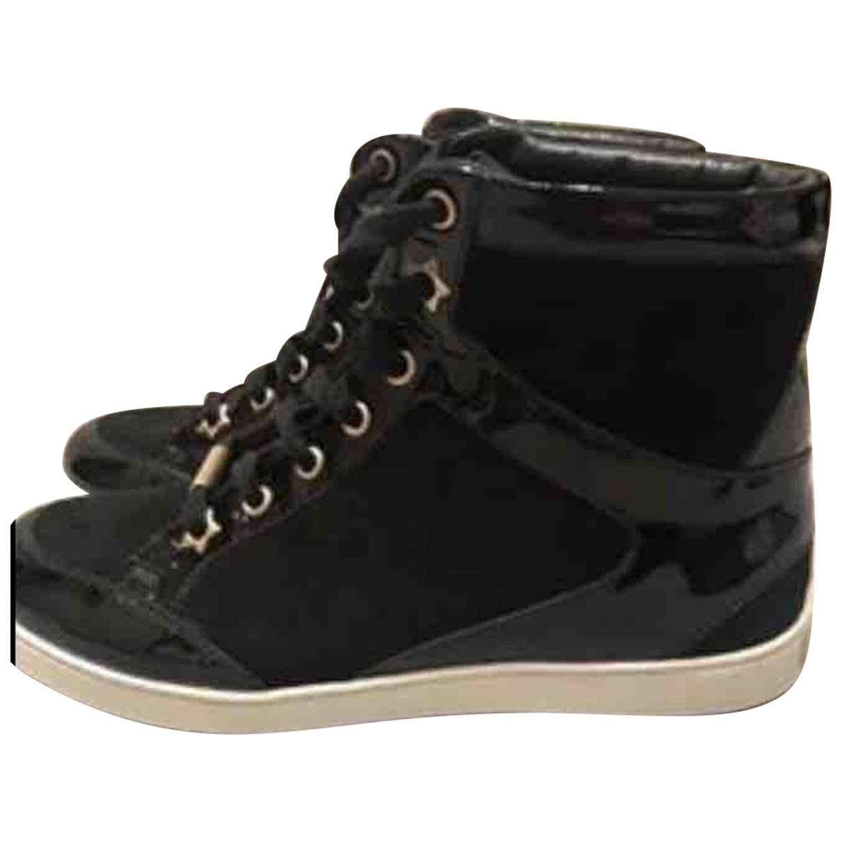 Jimmy Choo \N Sneakers in  Schwarz Lackleder