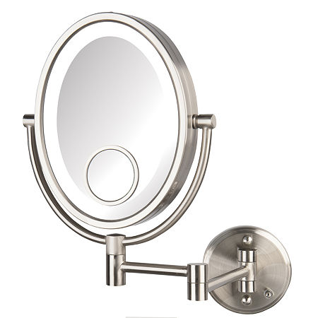 Jerdon HL9515NLD LED Nickel, Direct Wire Lighted Wall Mirror, One Size , Gray