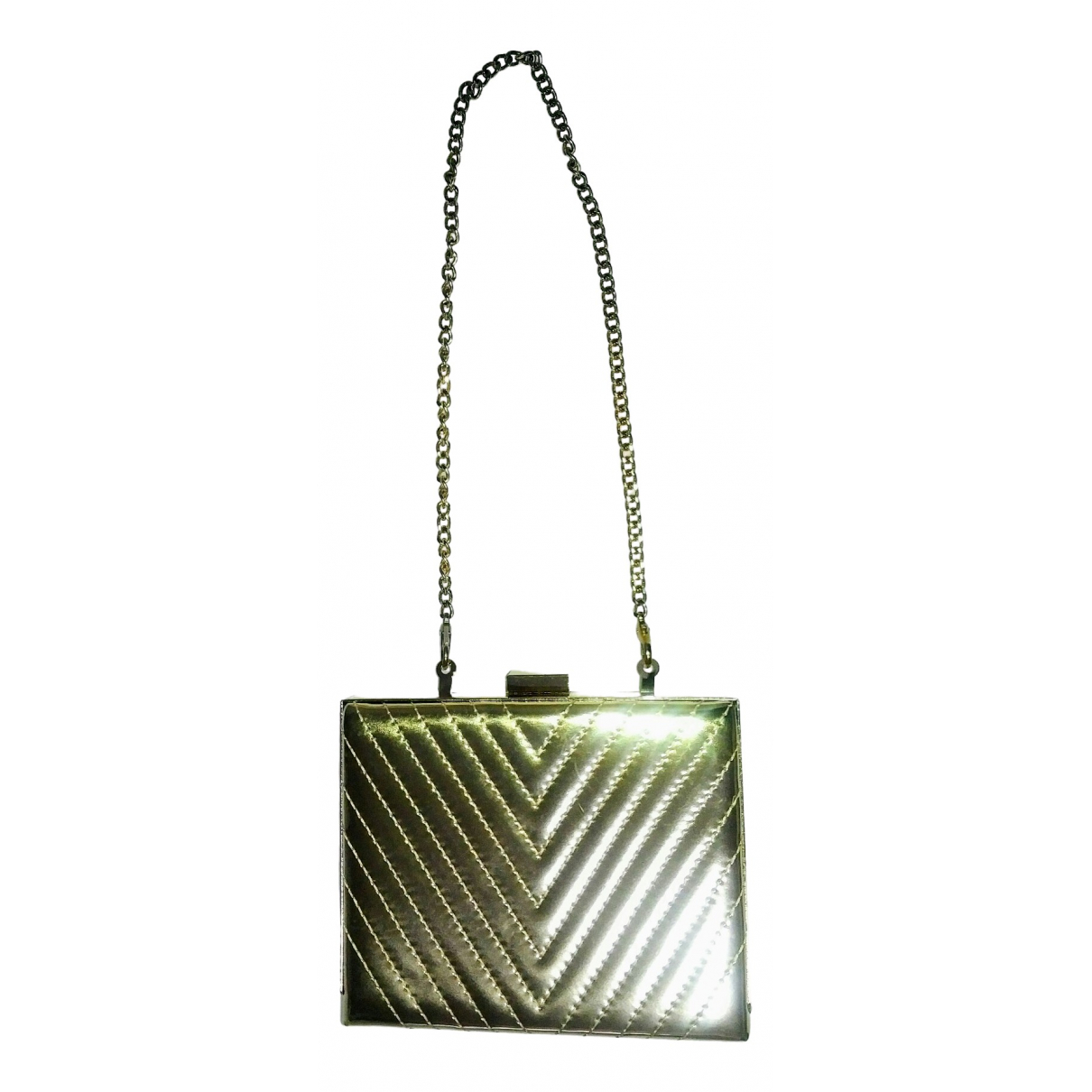 Non Signe / Unsigned \N Clutch in  Gold Synthetik