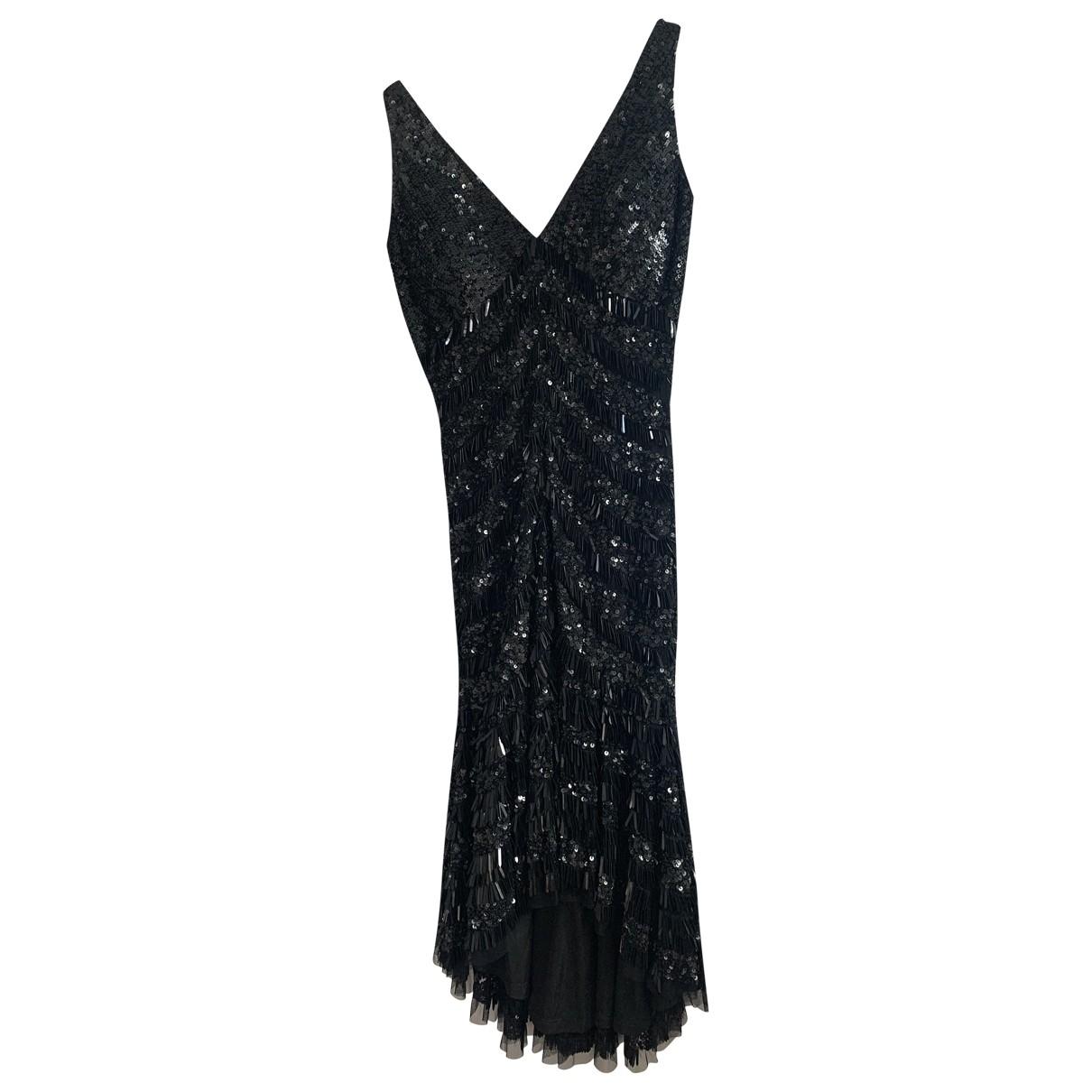 Theia \N Kleid in  Schwarz Synthetik