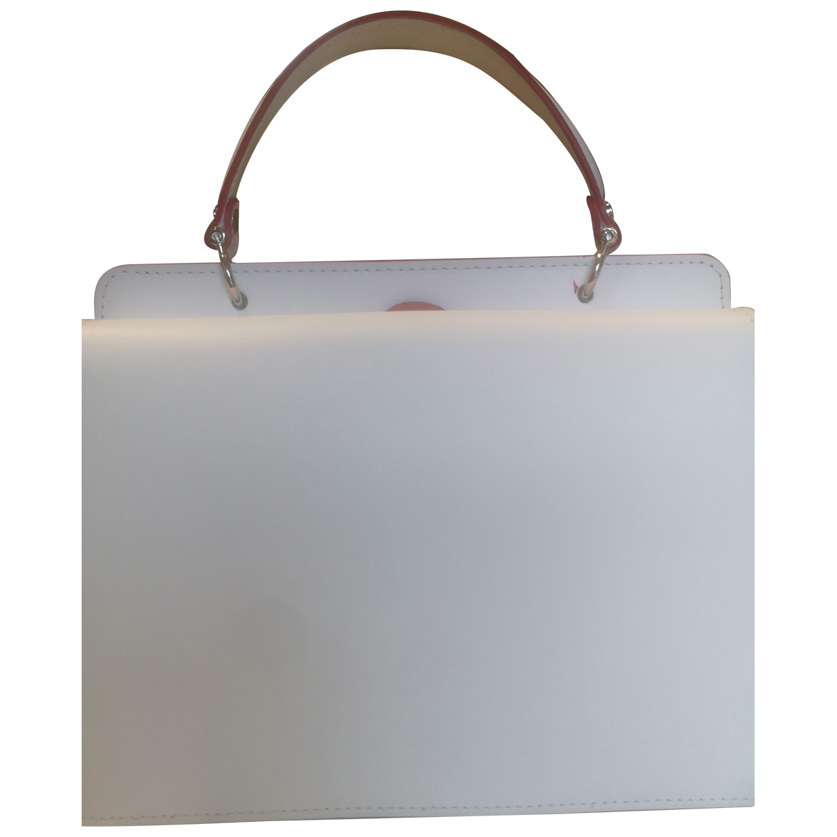 Non Signé / Unsigned N White Leather handbag for Women N